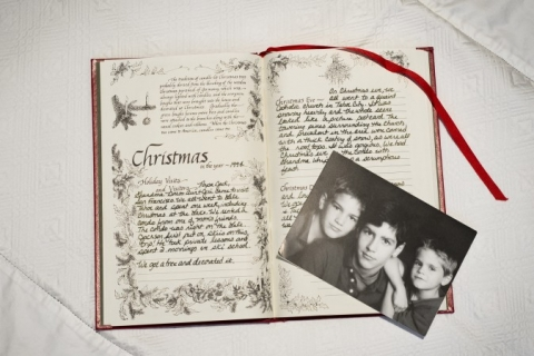 My family's Christmas memories book.